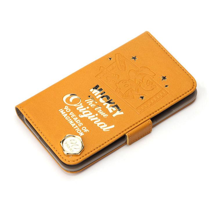 iPhone XR ケース iJacket 手帳型ケース ミッキーマウス/オレンジ iPhone XR_0