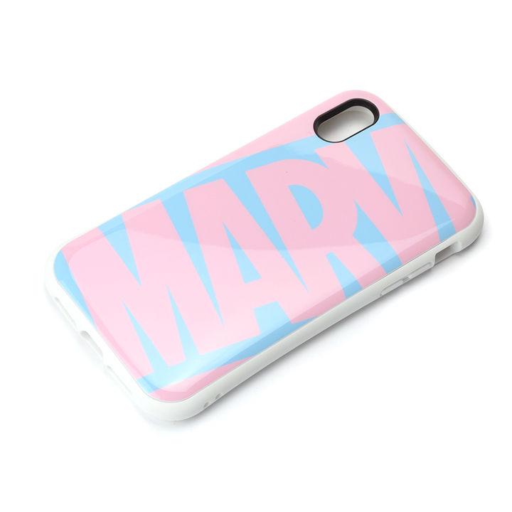 iPhone XR ケース Premium Style ハイブリッドタフケース ロゴ/ピンク&ブルー iPhone XR_0