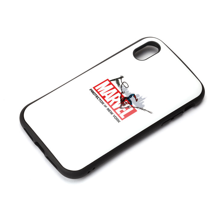 iPhone XR ケース Premium Style ハイブリッドタフケース スパイダーマン/ホワイト iPhone XR_0