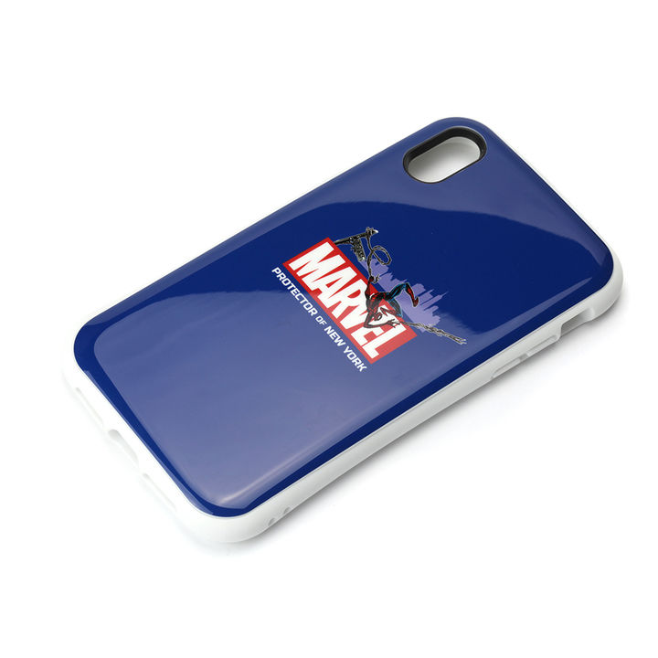 iPhone XR ケース Premium Style ハイブリッドタフケース スパイダーマン/ネイビー iPhone XR_0
