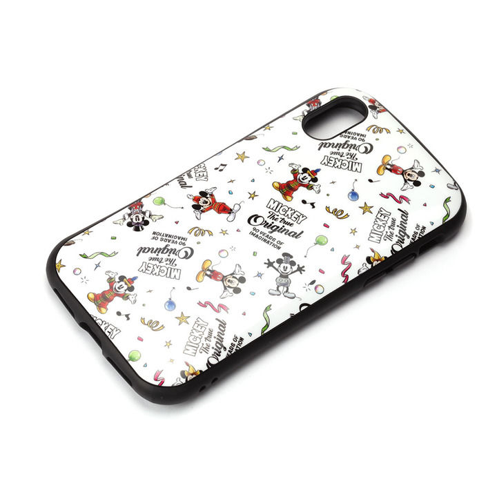 iPhone XS/X ケース Premium Style ハイブリッドタフケース ミッキーマウス/ホワイト iPhone XS/X_0