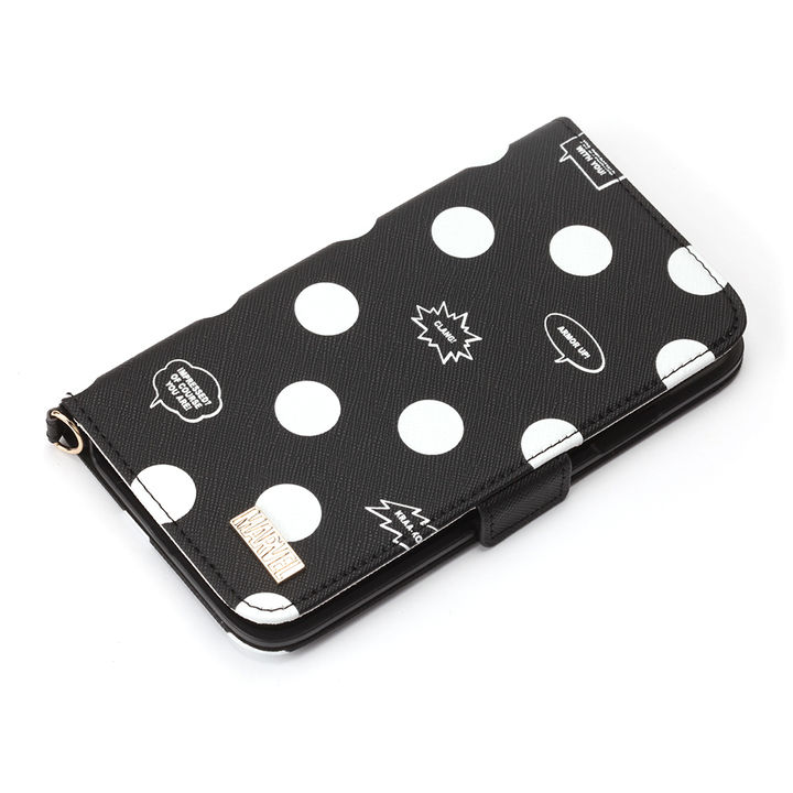 iPhone XR ケース iJacket 手帳型ケース アベンジャーズ/ブラック iPhone XR_0