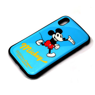 iPhone XS Max ケース Premium Style ハイブリッドタフケース ミッキーマウス/ブルー iPhone XS Max