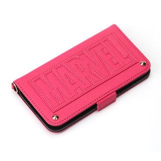 【iPhone XS/Xケース】iJacket 手帳型ケース ロゴ/ピンク iPhone XS/X