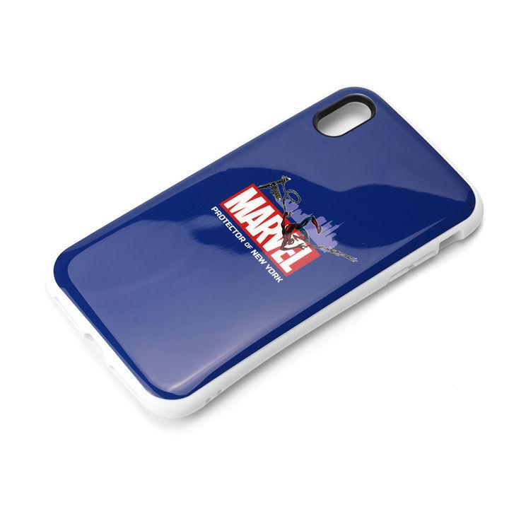 【iPhone XS Maxケース】Premium Style ハイブリッドタフケース スパイダーマン/ネイビー iPhone XS Max_0