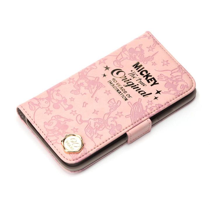iPhone XS/X ケース iJacket 手帳型ケース ミッキーマウス/ピンク iPhone XS/X_0