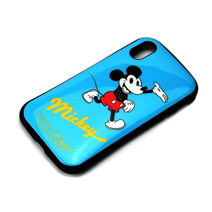 iPhone XS/X ケース Premium Style ハイブリッドタフケース ミッキーマウス/ブルー iPhone XS/X_0