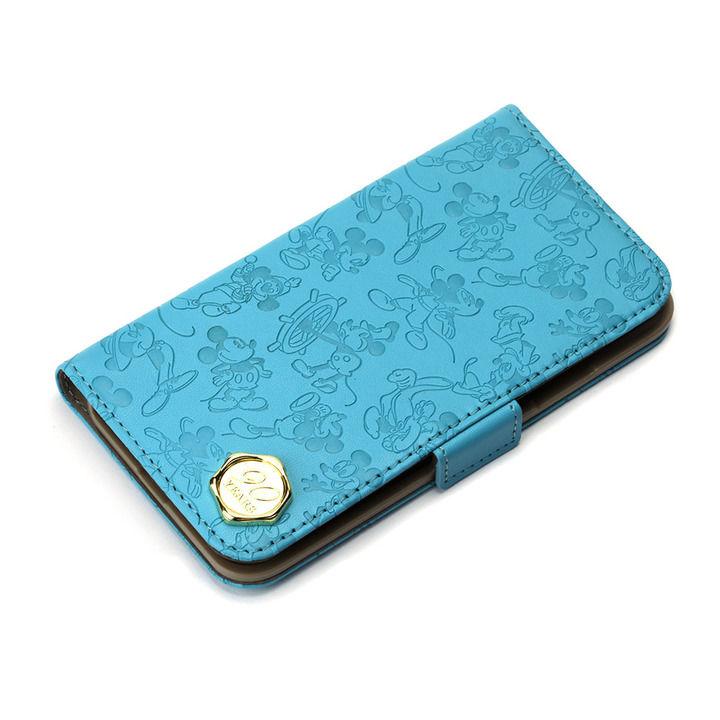 iPhone XS/X ケース iJacket 手帳型ケース ミッキーマウス/ブルー iPhone XS/X_0