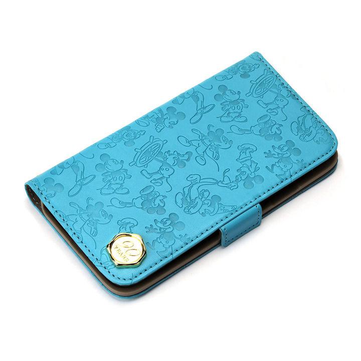iPhone XR ケース iJacket 手帳型ケース ミッキーマウス/ブルー iPhone XR_0