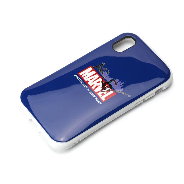 【iPhone XS/Xケース】Premium Style ハイブリッドタフケース スパイダーマン/ネイビー iPhone XS/X_0