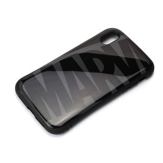 iPhone XR ケース Premium Style ハイブリッドタフケース ロゴ/ブラック&グレー iPhone XR