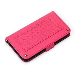 【iPhone XRケース】iJacket 手帳型ケース ロゴ/ピンク iPhone XR