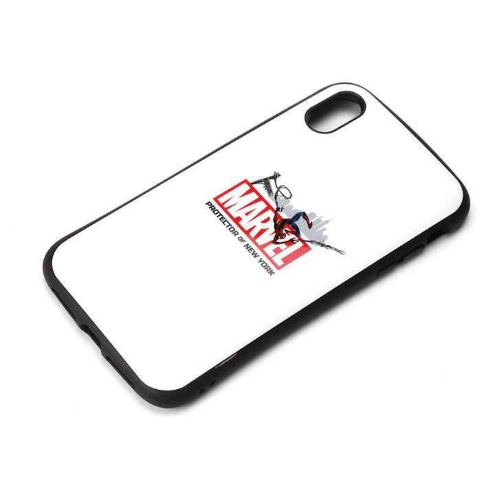 【iPhone XS Maxケース】Premium Style ハイブリッドタフケース スパイダーマン/ホワイト iPhone XS Max_0