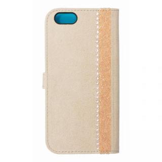 iPhone6s/6 ケース ジュエルライン手帳型ケース ベージュ×ブルー iPhone 6s/6