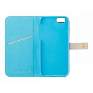 【iPhone6s/6ケース】ジュエルライン手帳型ケース ベージュ×ブルー iPhone 6s/6_2