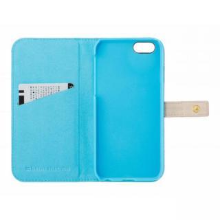 【iPhone6s/6ケース】ジュエルライン手帳型ケース ベージュ×ブルー iPhone 6s/6_3
