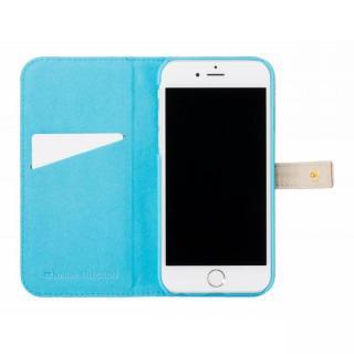 【iPhone6s/6ケース】ジュエルライン手帳型ケース ベージュ×ブルー iPhone 6s/6_4