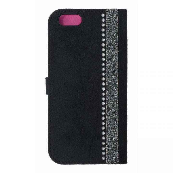iPhone6s/6 ケース ジュエルライン手帳型ケース ブラック×パープル iPhone 6s/6_0
