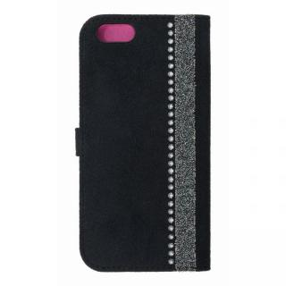 iPhone6s/6 ケース ジュエルライン手帳型ケース ブラック×パープル iPhone 6s/6