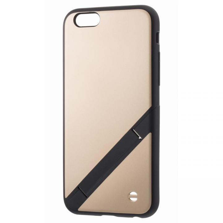 【iPhone6s/6ケース】スタンド機能付きハードケース EQUAL stand ゴールド iPhone 6s/6_0
