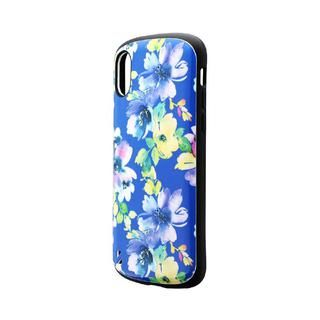 iPhone XS/X ケース 耐衝撃ハイブリッドケース「PALLET Design」 フラワーブルー iPhone XS/X