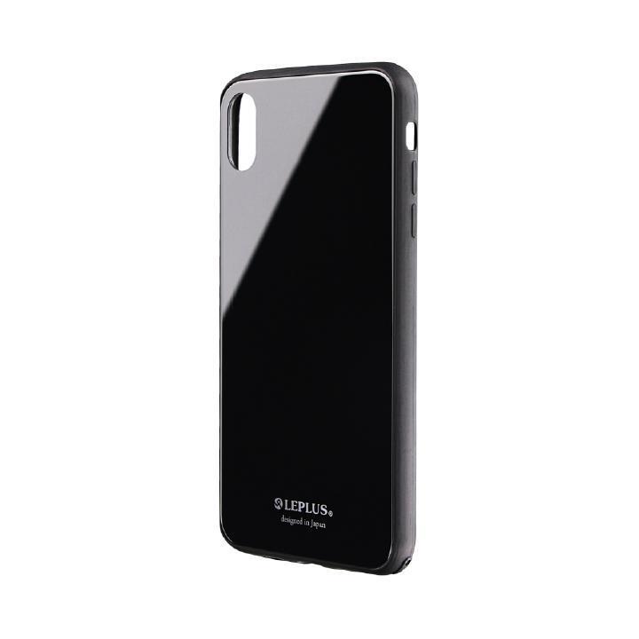 iPhone XS Max ケース 背面ガラスシェルケース「SHELL GLASS」 ブラック iPhone XS Max_0