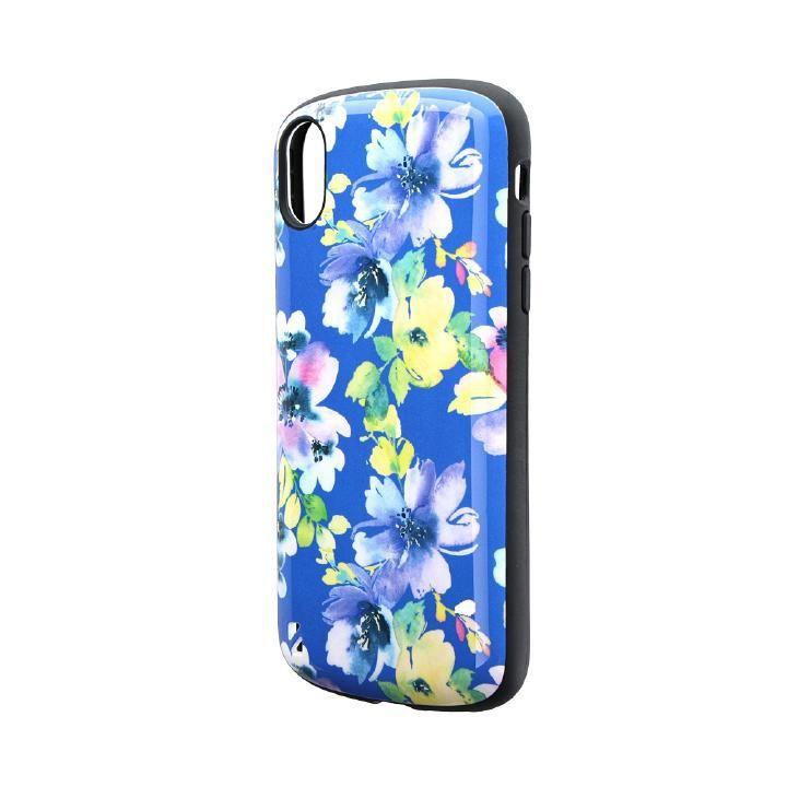 iPhone XR ケース 耐衝撃ハイブリッドケース「PALLET Design」 フラワーブルー iPhone XR_0