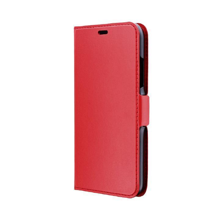iPhone XR ケース 薄型PUレザー手帳型ケース「FILE」 レッド iPhone XR_0