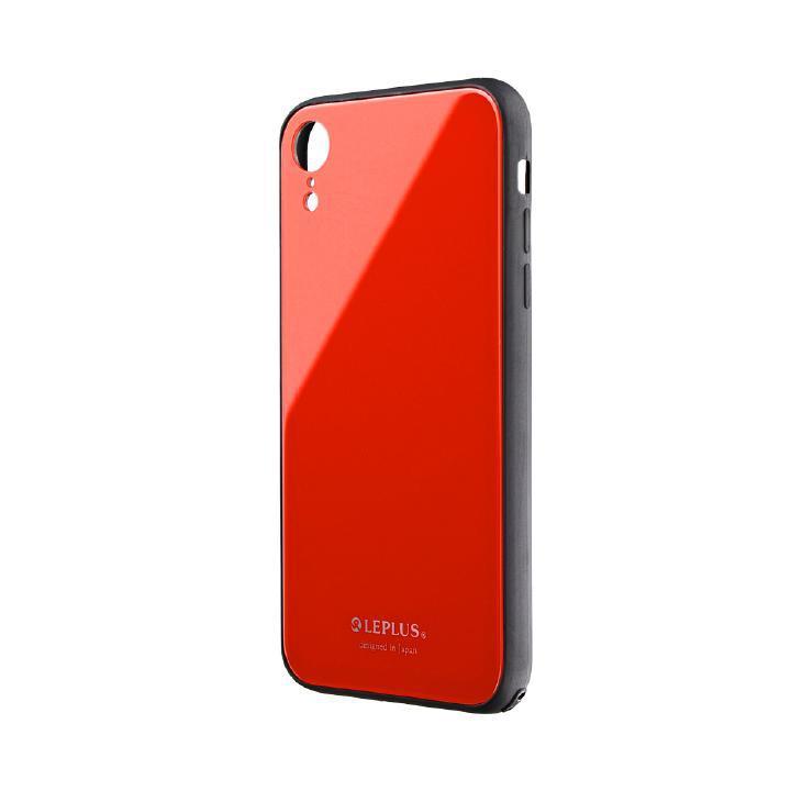 iPhone XR ケース 背面ガラスシェルケース「SHELL GLASS」 レッド iPhone XR_0
