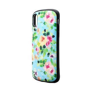 iPhone XS/X ケース 耐衝撃ハイブリッドケース「PALLET Design」 フラワーエメラルド iPhone XS/X