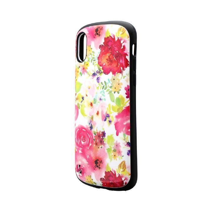 iPhone XS/X ケース 耐衝撃ハイブリッドケース「PALLET Design」 フラワーピンク iPhone XS/X_0
