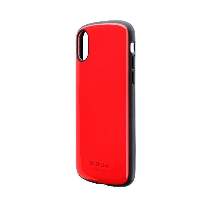 iPhone XS/X ケース 耐衝撃薄型ハイブリッドケース「PALLET Slim」 レッド iPhone XS/X_0