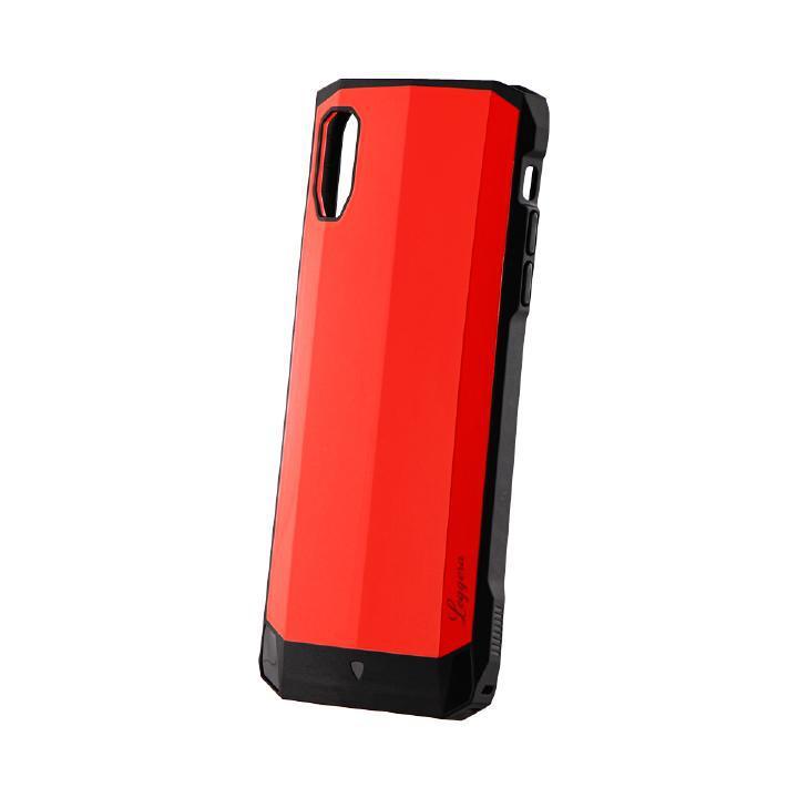 iPhone XS Max ケース 耐衝撃ハイブリッドケース「LEGGERA」 ソリッドレッド iPhone XS Max_0