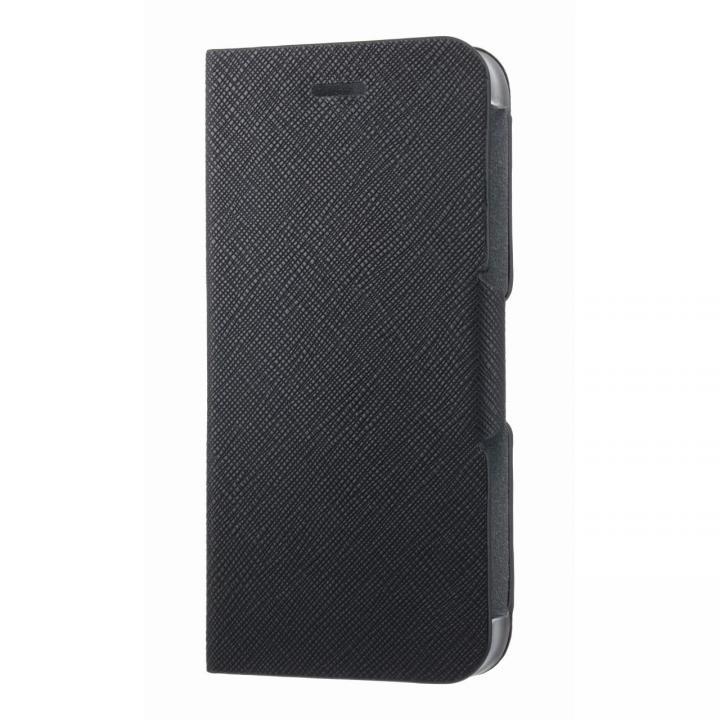 【iPhone6s/6ケース】スタンド機能付き手帳型ケース ブラック iPhone 6s/6_0