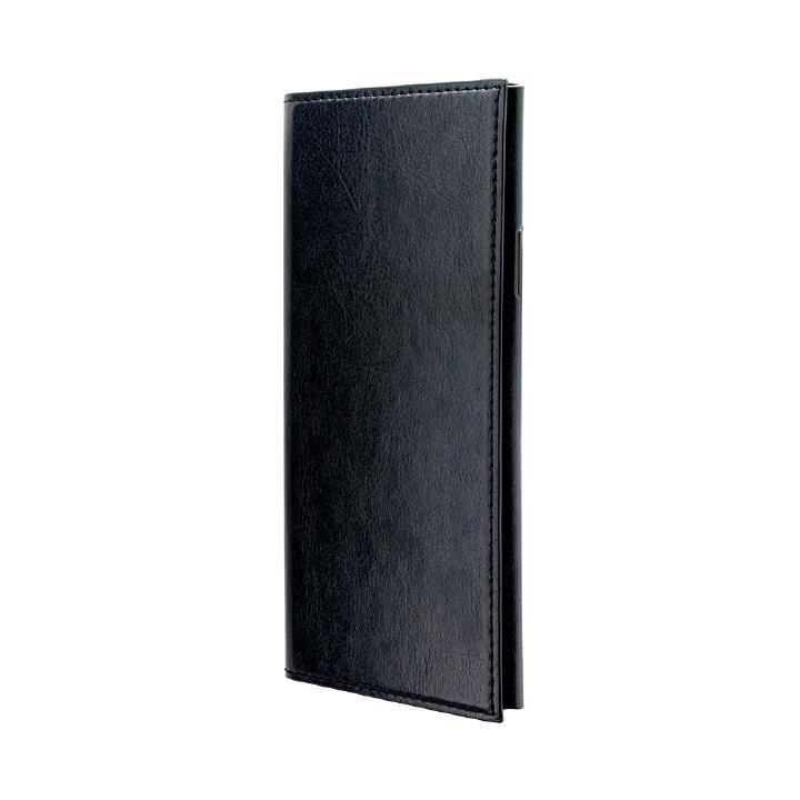 iPhone XR ケース 極薄一枚革手帳型ケース「PAGE」 ブラック iPhone XR_0