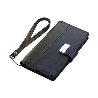 iPhone XS/X ケース 上質PUレザー手帳型ケース「PREMIER」  ブラック iPhone XS/X