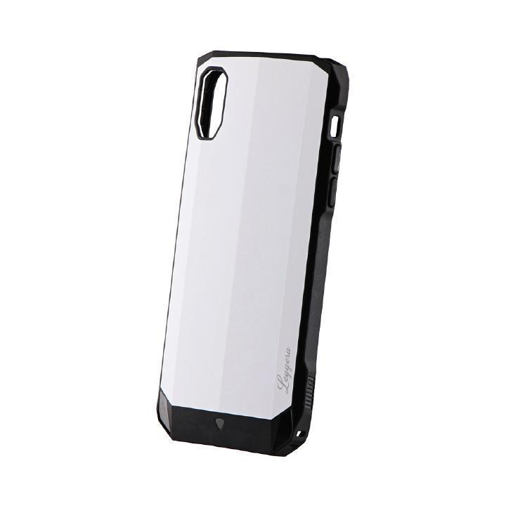 iPhone XR ケース 耐衝撃ハイブリッドケース「LEGGERA」 ソリッドホワイト iPhone XR_0