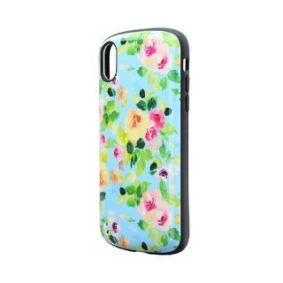 iPhone XR ケース 耐衝撃ハイブリッドケース「PALLET Design」 フラワーエメラルド iPhone XR
