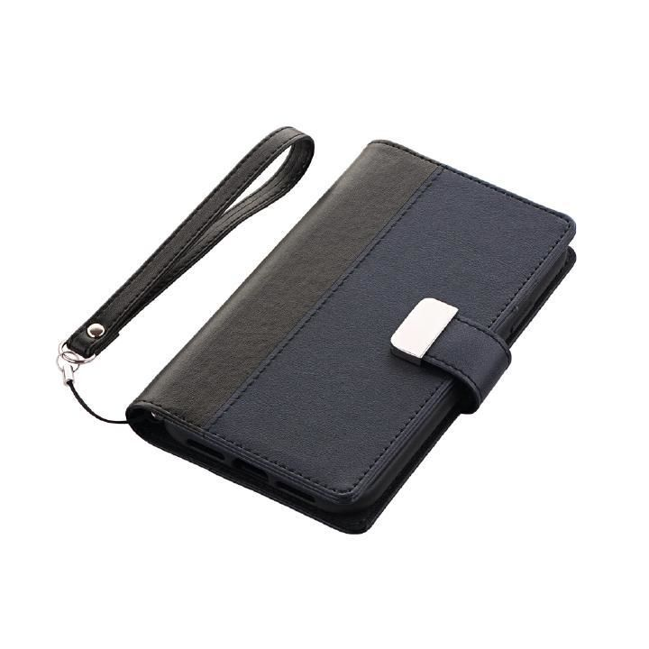 iPhone XR ケース 上質PUレザー手帳型ケース「PREMIER」  ブラック iPhone XR_0