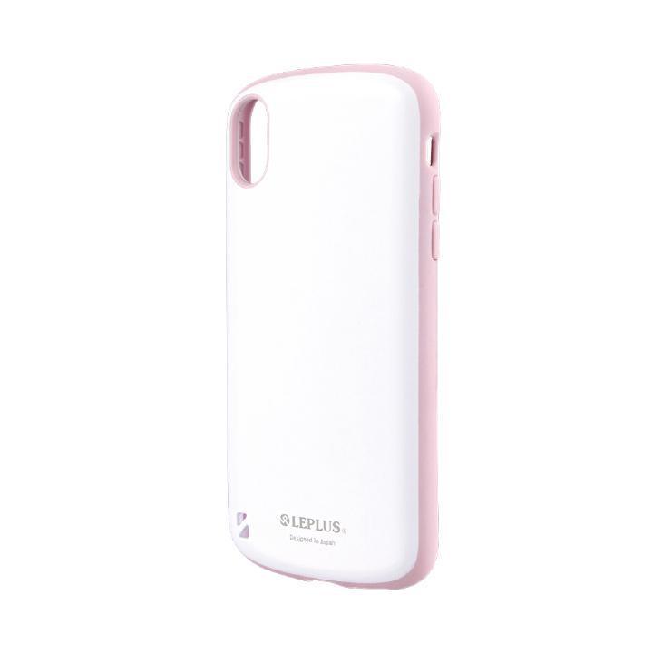 iPhone XR ケース 耐衝撃ハイブリッドケース「PALLET White」 ホワイトピンク iPhone XR_0