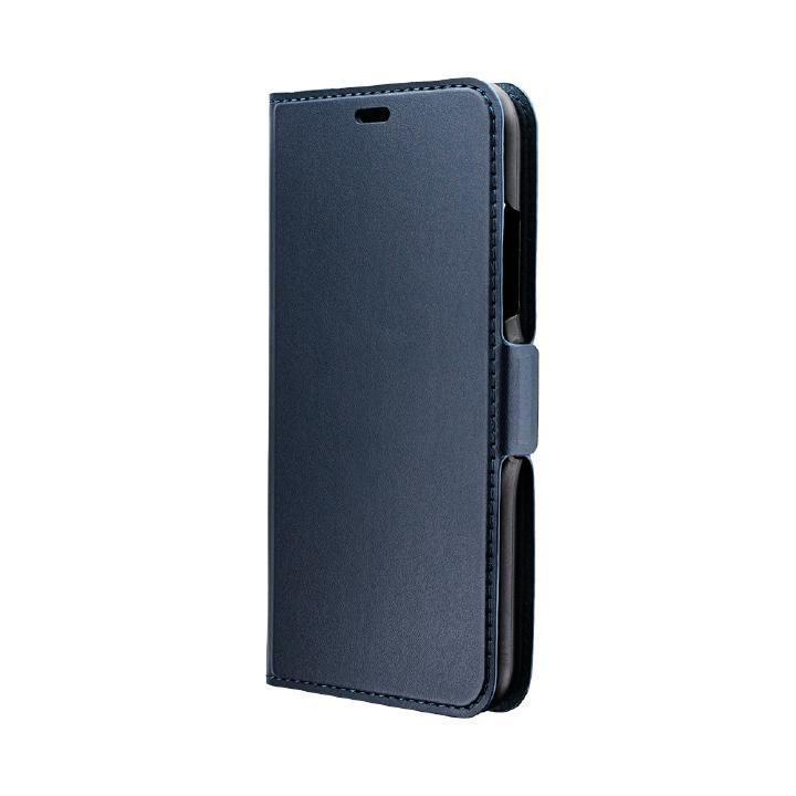 iPhone XR ケース 薄型PUレザー手帳型ケース「FILE」 ネイビー iPhone XR_0