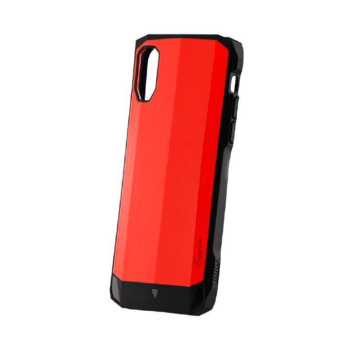 iPhone XS/X ケース 耐衝撃ハイブリッドケース「LEGGERA」 ソリッドレッド iPhone XS/X_0