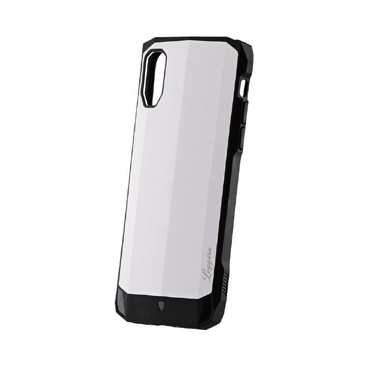 iPhone XS/X ケース 耐衝撃ハイブリッドケース「LEGGERA」 ソリッドホワイト iPhone XS/X_0