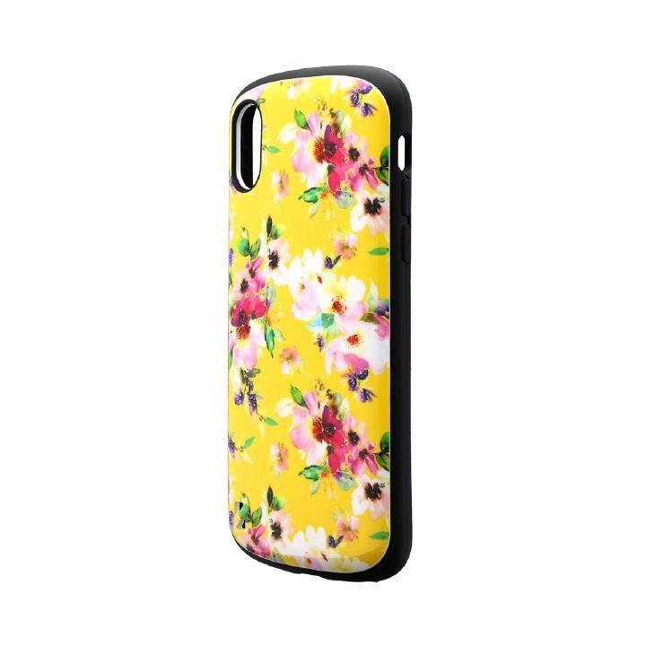 iPhone XS/X ケース 耐衝撃ハイブリッドケース「PALLET Design」 フラワーイエロー iPhone XS/X_0