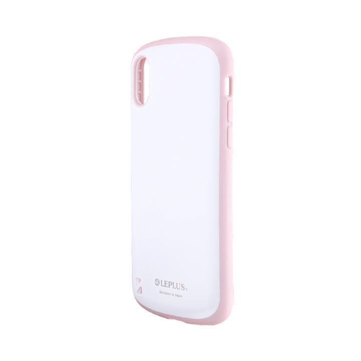iPhone XS/X ケース 耐衝撃ハイブリッドケース「PALLET White」 ホワイトピンク iPhone XS/X_0