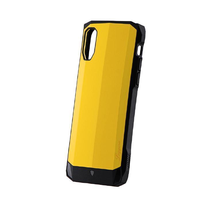 iPhone XS/X ケース 耐衝撃ハイブリッドケース「LEGGERA」 ソリッドイエロー iPhone XS/X_0