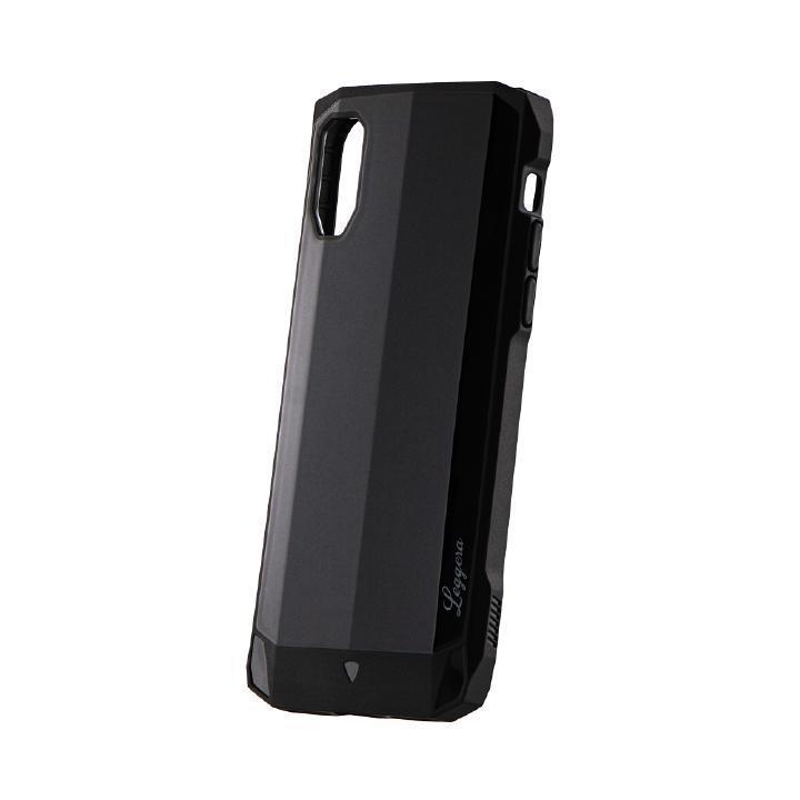 iPhone XS/X ケース 耐衝撃ハイブリッドケース「LEGGERA」 ソリッドブラック iPhone XS/X_0