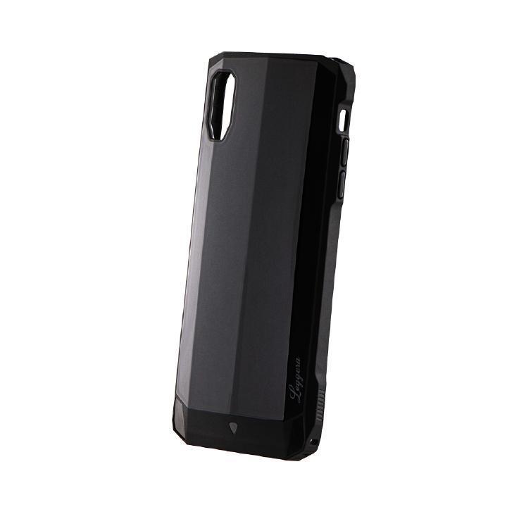 iPhone XS Max ケース 耐衝撃ハイブリッドケース「LEGGERA」 ソリッドブラック iPhone XS Max_0