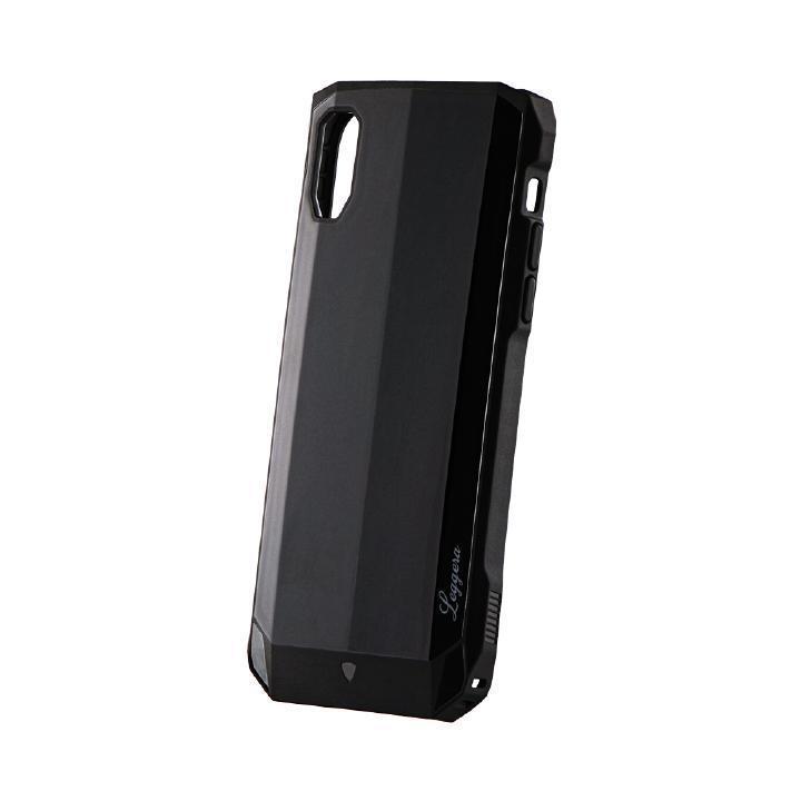 iPhone XR ケース 耐衝撃ハイブリッドケース「LEGGERA」 ソリッドブラック iPhone XR_0
