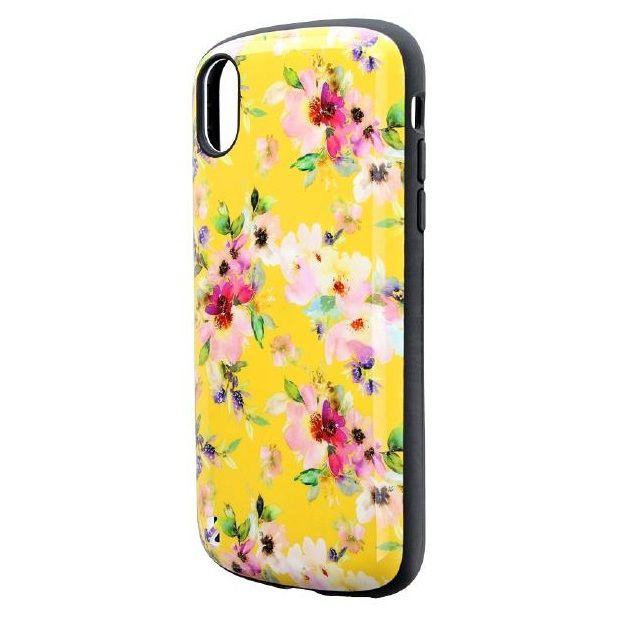 iPhone XR ケース 耐衝撃ハイブリッドケース「PALLET Design」 フラワーイエロー iPhone XR_0